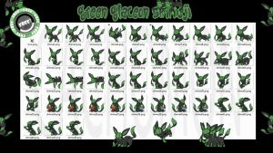 Green Glaceon Shimeji +FREE+ by Cachomon