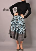 Blue Victorian Pleated Skirt 7 by yystudio
