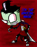 Zim The Homicidal Maniac by insanelyADD