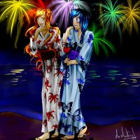 Gift- Jenny and Lilreth fireworks by desiderata-girl