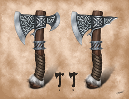 One-hand axes by arahnoid