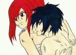 Fairy Tail Erza and Gray by ChristineArrow