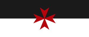 War Standard of the Knights Hospitaller (Templar) by thelilpallywhocould