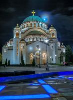 Cathedral of Saint Sava by marinbgd