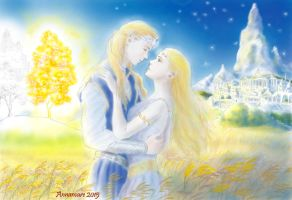 Finrod and Amarie, Years of the Trees by annamare