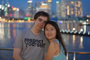 Just us 2 at Marina bay :3 by Roses-and-Feathers