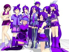 MMD Newcomers Spirit Day Group by MewMeori