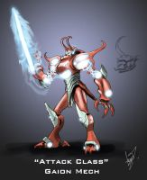 Attack Class Gaion Mech by Cross-Kaiser