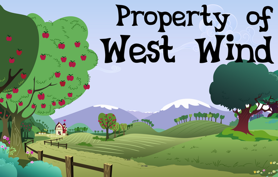 Property of West Wind Title Card by OleGrayMane