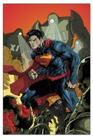 Action Comics #1 Cover - Jim Lee variant by shubcthulhu