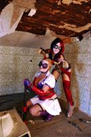 Injustice and Arkham Asylum Harley Quinn Copslay by Malicious-Cosplay