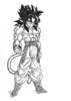 Ascended SSj4 Goku by bloodsplach