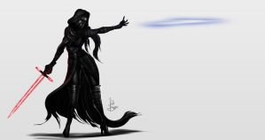 Female Kylo Ren by IsaiahStephens