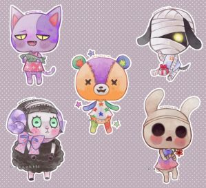 Animal Crossing Stickers by DrawKill
