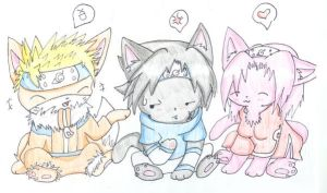 Team 7 kittens by Leslichu
