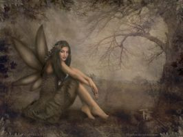 Woodfairy Wallpaper by elisafox