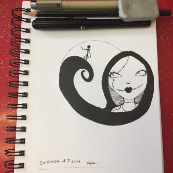 Inktober jack and sally by TemperTempest
