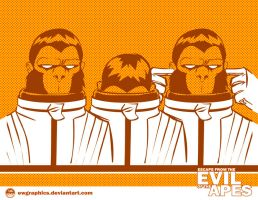 Evil Of The Apes - CAA by EryckWebbGraphics