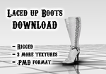Laced up Boots DOWNLOAD by Kohaku-Ume