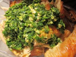 Chimichurri on Roast Chicken by Windthin
