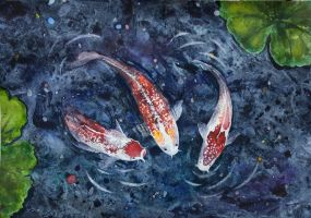 fish in the pond by qi-art