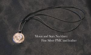 Moon and Stars Necklace by HappyThawts