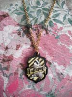 Hufflepuff Gold Sparkle Necklace by AriesNamarie