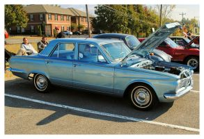 Blue Plymouth Valiant by TheMan268