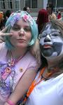 Decora and Juggalo at Animazement 2015 by southpony98
