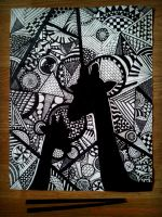 Scribbled Giraffes by Ink-and-Chopsticks