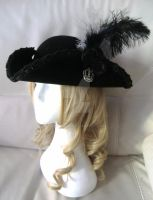 velvet Pirate hat (handmade) by visu-doll