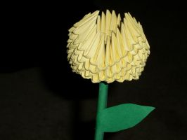 Yellow origami Tulip by Rescue-Is-Possible