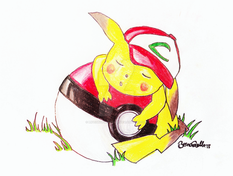 Pikachu: sleeping beauty by LifeIsNoFairytale