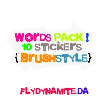 Brush Words Pack by flydynamite