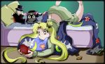 Usagi chan playing on the NDS by Kymoon
