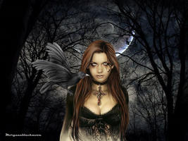 the raven and the moon... by morganablackmoon
