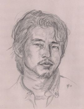Steven Yeun as Glenn rhee by Gossamer1970