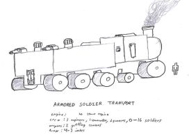 Armored Soldier Transport by 0verlordofyou