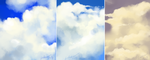 Cloud sketches by Lahara