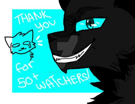 Thank You! 50+ WATCHERS!!! by umbreoncopper2244