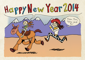 New Years card 2014 by naha-def