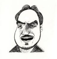 HonestDiscussioner Caricature by aaronphilby