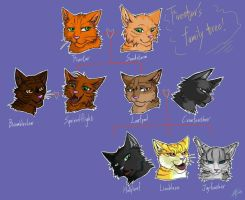 Warriors: Firestar's family tree by Marshcold