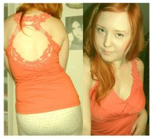 orange top from New Yorker by IdaBlack