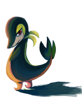 Snivy by Madame-Clockwork