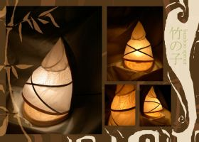 Bamboo Sprout lamp by kazenokibou