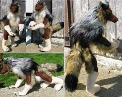 Wolf Anthro Werewolf Plush Toy by Jarahamee