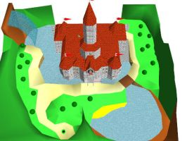 MMD Peach Castle With Interior by Monsters9141