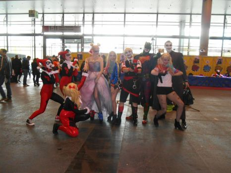 GCC Frankfurt 2017 cosplay: Harley and Joker group by Lalottered