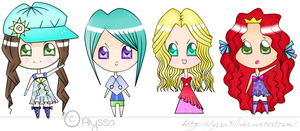 Chibi Set by Alyssa921
